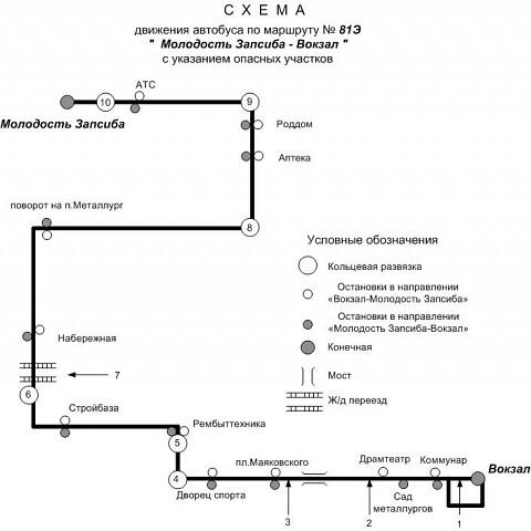 Новая схема маршрута №81Э