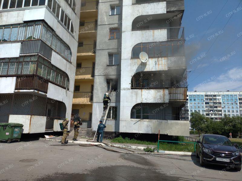 ВНовокузнецке наСтроителей горела двенадцатиэтажка