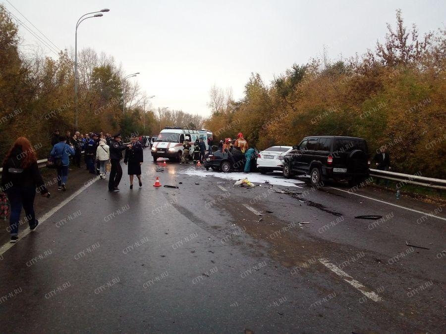 Массовое ДТП на Ильинском шоссе в Новокузнецке, 2 октября 2018